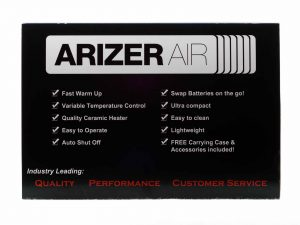 arizer air back of box