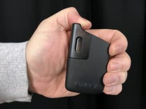 Fury 2 ultra portable cannabis vaporizer in hand