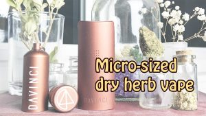 Davinci MIQRO review and demonstration - Micro Dosing Dry Herb Vape